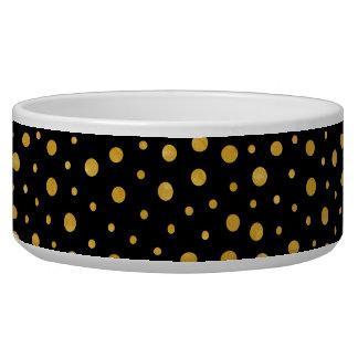 Tigela Bolinhas elegantes - ouro preto