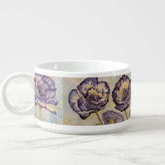 Tigela Caneca floral do jumbo da arte da aguarela