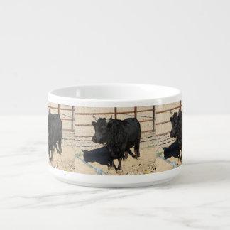 Tigela Caneca preta pequena do pimentão de Bull