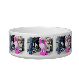 Tigela Caniche padrão cor-de-rosa do dia 2016 da caniche