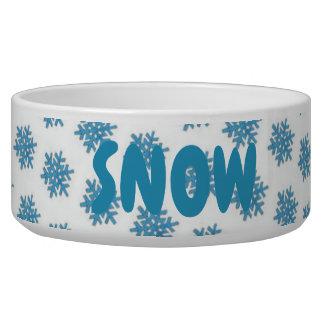 Tigela Cão azul da neve do floco de neve do inverno