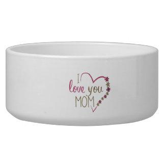 Tigela Coração do dia das mães da mamã do amor