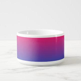 Tigela Cores cor-de-rosa e roxas do inclinação