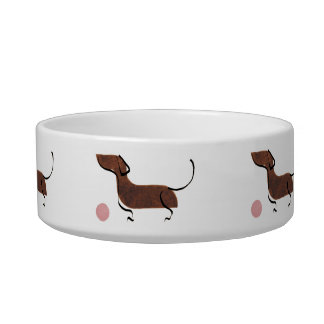 Tigela dachshund com bola (bal encontrado teckel)