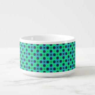 Tigela De Chili Abstrato geométrico azul roxo verde