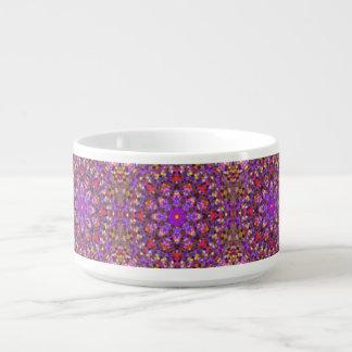 Tigela De Chili Bacias de KaleidoscopeChili do estilo do azulejo