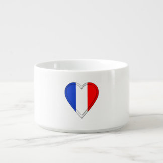Tigela De Chili Bandeira do francês de France