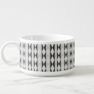 Tigela De Chili Branco e cinzento pretos