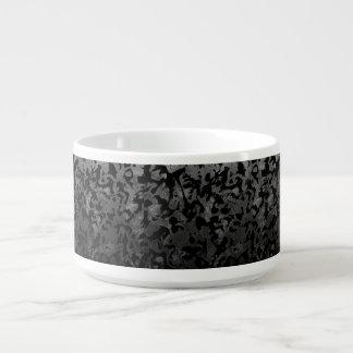 Tigela De Chili Camuflagem cinzenta preta e escura de Camo moderno