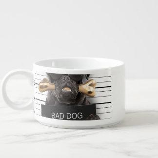 Tigela De Chili Cão do Mugshot, pug engraçado, pug