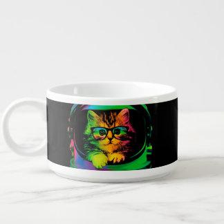 Tigela De Chili Gato do hipster - astronauta do gato - espace o