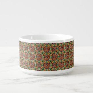 Tigela De Chili Teste padrão floral étnico abstrato colorido da
