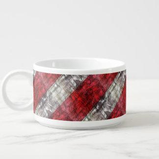 Tigela De Chili Vermelho e listras Textured cinzas