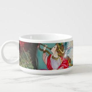 Tigela De Sopa Anjo do Natal - arte do Natal - decorações do anjo