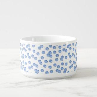 Tigela De Sopa Bacia azul do pimentão das bolinhas
