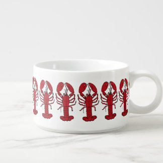 Tigela De Sopa Bacia bonito da lagosta do pimentão