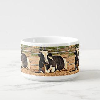 Tigela De Sopa Bacia curta do pimentão da vaca do chifre