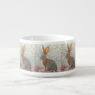 Tigela De Sopa Bacia do pimentão do coelho dos desenhos animados