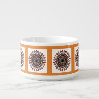 Tigela De Sopa Bacia espiral geométrica cinzenta alaranjada do