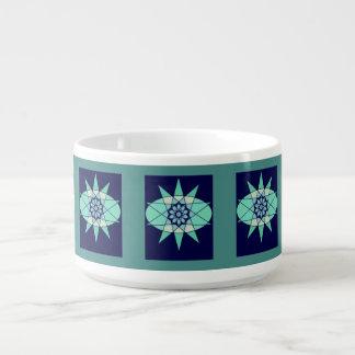 Tigela De Sopa Bacia floral do pimentão do design geométrico do