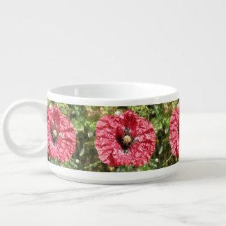 Tigela De Sopa Bacia macro do pimentão da flor vermelha bonito da