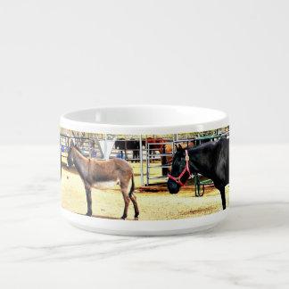 Tigela De Sopa Bacia nova do pimentão dos cavalos de rio