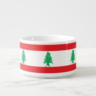 Tigela De Sopa Bandeira de Líbano