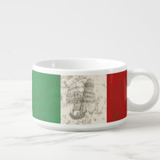 Tigela De Sopa Bandeira e símbolos de Italia ID157