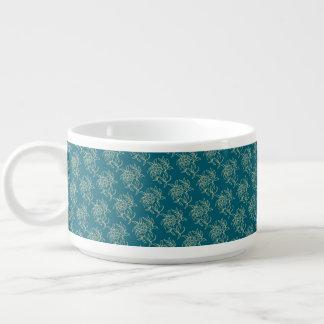 Tigela De Sopa Bege floral do Mini-impressão do estilo étnico na