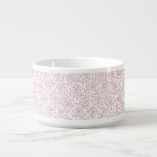 Tigela De Sopa bonito, floral.pink, branco, peônias, femininos,