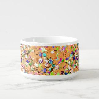 Tigela De Sopa Brilho moderno #9 do grão do mosaico multicolorido
