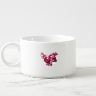 Tigela De Sopa Coração cor-de-rosa da ervilha doce