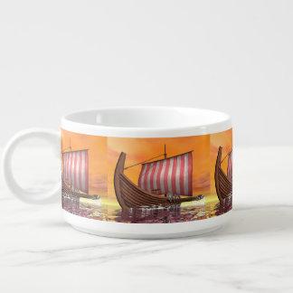 Tigela De Sopa Drakkar ou navio de viquingue - 3D rendem