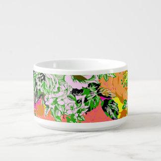 Tigela De Sopa Flores bonitos do abstrato do girley