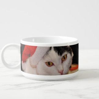 Tigela De Sopa Gato de Papai Noel - Feliz Natal - gato do animal