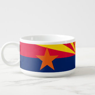 Tigela De Sopa Gráfico dinâmico da bandeira do estado da arizona