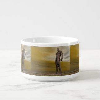 Tigela De Sopa Homo erectus masculino - 3D rendem