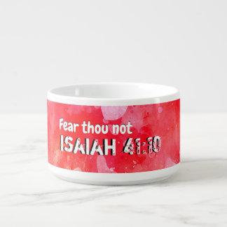 Tigela De Sopa Isaiah 41 10 que eu reforçarei