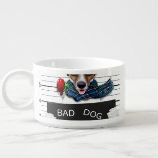 Tigela De Sopa Jaque engraçado russell, cão do Mugshot