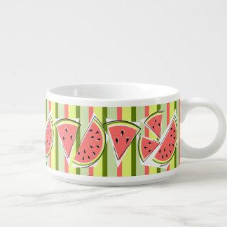 Tigela De Sopa Linha bacia da melancia do pimentão da listra