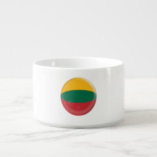 Tigela De Sopa Lithuania, bandeira verde & amarela vermelha