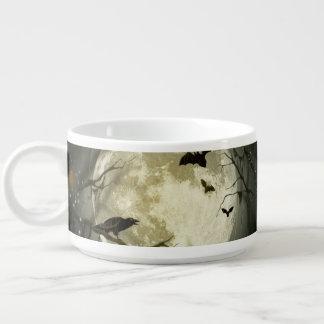 Tigela De Sopa Lua do Dia das Bruxas - ilustração da Lua cheia