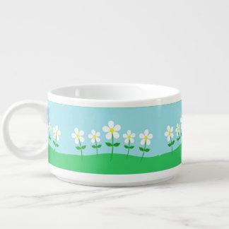 Tigela De Sopa Margaridas felizes do primavera