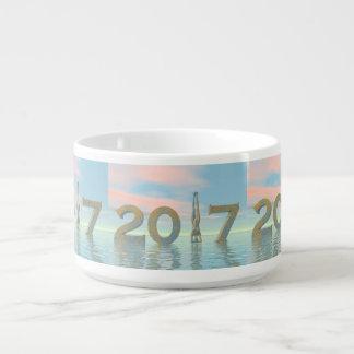 Tigela De Sopa O feliz ano novo 2017 do zen - 3D rendem