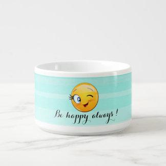 Tigela De Sopa O smiley pisc adorável Emoji Cara-Está feliz