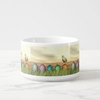 Tigela De Sopa Ovos coloridos para a páscoa - 3D rendem