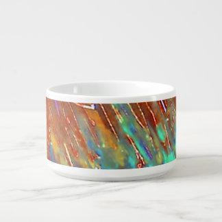Tigela De Sopa Paisagem de cobre do Patina