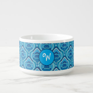 Tigela De Sopa Paisley emplumado - azulado