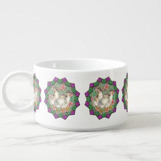 Tigela De Sopa Patinhos e flores