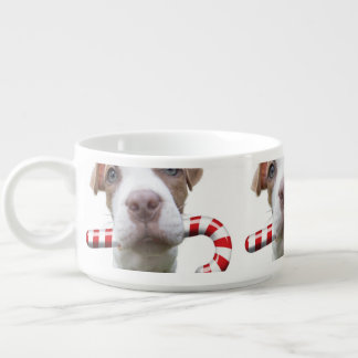 Tigela De Sopa Pitbull do Natal - pitbull do papai noel - cão de